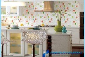 Funkcijos virtuvės tapetai su nuotraukomis