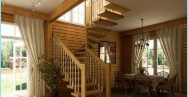 Kaip padaryti, kad spiraliniai laiptai į antrą aukštą, palėpėje