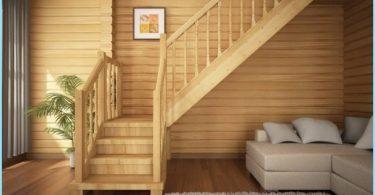 Laiptai kotedžai ir privačiuose namuose su nuotraukomis