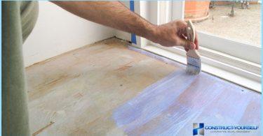 Kaip ir ką tapyti grindis