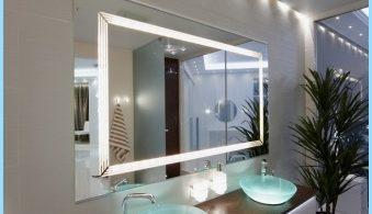 Šviesos veidrodis į vonios vidų