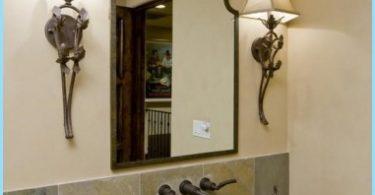 Dizainas veidrodis vonioje