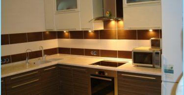 Dizainas kampelis virtuvės, modernios idėjos, naujienos