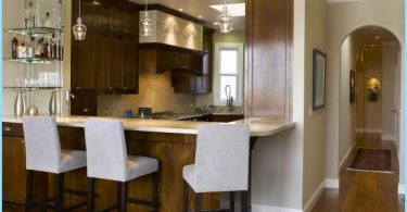 Virtuvė su baru pusryčiams: Modernus dizainas