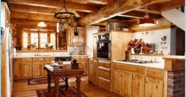 Virtuvės mediniame name - modernus dizainas ne prie pastato