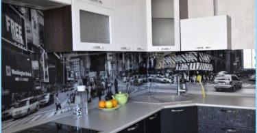 Stiklo prijuostė virtuvėje su nuotraukomis
