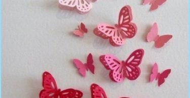 Dekoratyviniai drugeliai papuošti sienas