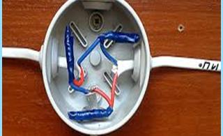 Vairavimo rasklyucheniya ar prijungimas elektros kabelių skirstymo dėžės